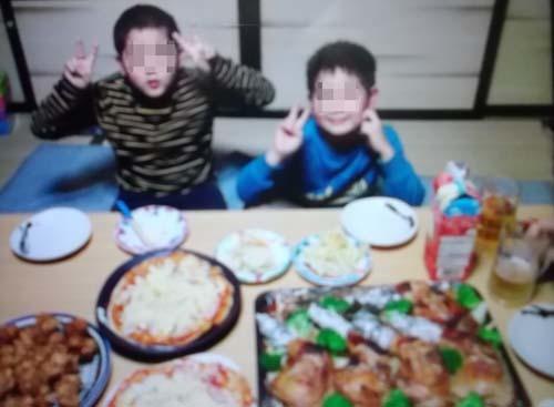 ローストチキンレッグ&孫たちのクリスマスLINE写真_f0019498_19382779.jpg