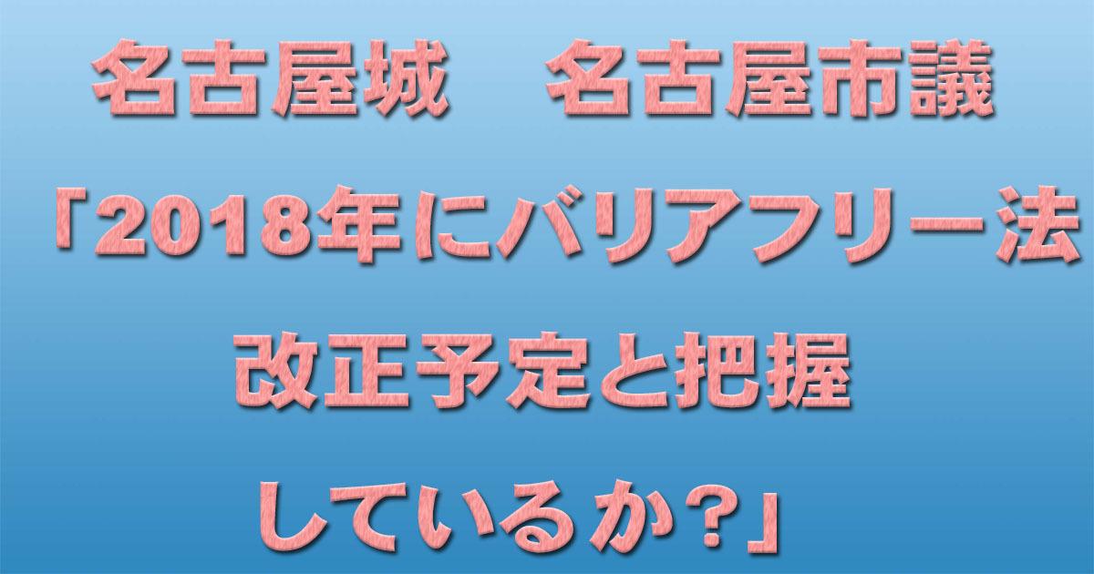 名古屋城 名古屋市議「2018年にバリアフリー法改正予定と把握しているか?」_d0011701_22031122.jpg