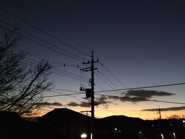 クリスマスの夕焼け。_b0207631_17534610.jpg