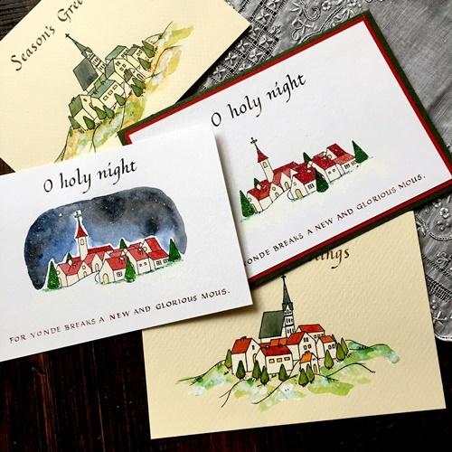 Finetecと呉竹顔彩耽美☆ビジネスライティングのクリスマスカード_b0165872_20003035.jpg