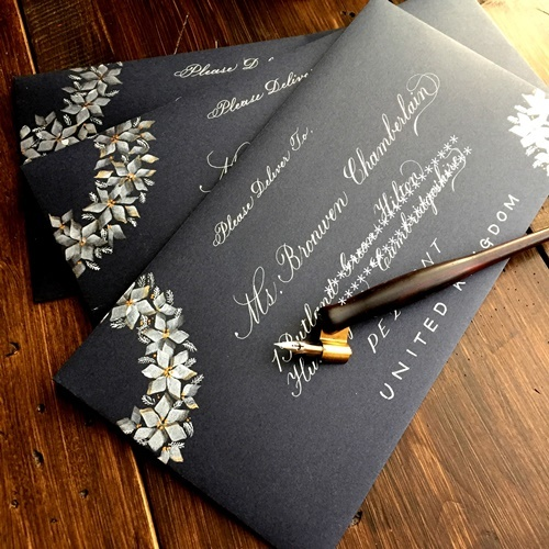 Finetecと呉竹顔彩耽美☆ビジネスライティングのクリスマスカード_b0165872_20003479.jpg