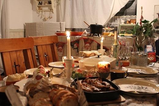 2017クリスマスホームパーティ♪恒例ビュッフェにアヒージョ登場_f0023333_21042411.jpg