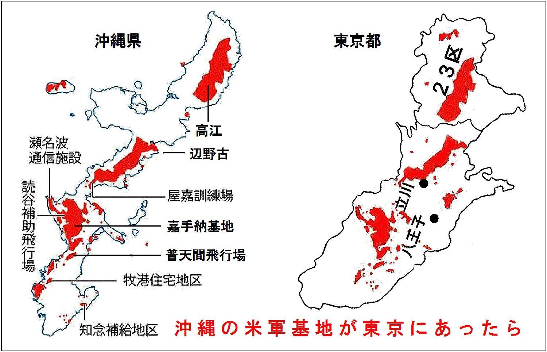□ 沖縄の米軍基地が東京にあった...