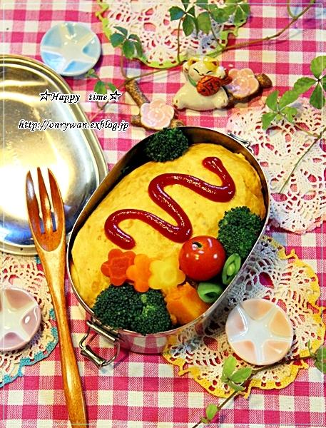 オムライス弁当とちらっと雪~♪_f0348032_18124328.jpg