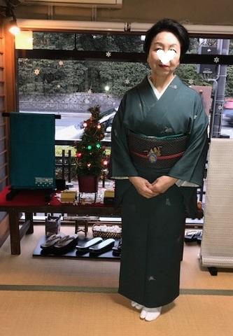 人見敏男さんの着物・クリスマス帯のお客様・家の片づけ_f0181251_17235821.jpg