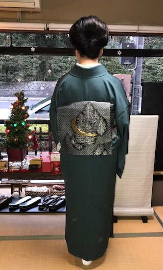 人見敏男さんの着物・クリスマス帯のお客様・家の片づけ_f0181251_17264829.jpg