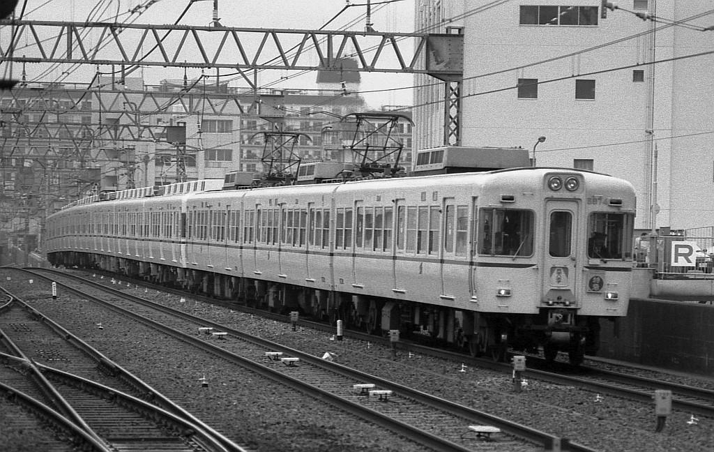 1987年12月京王線笹塚にて5000系9連特急_f0203926_0435947.jpg