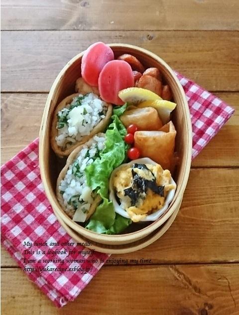 12.28 今年最後のお弁当は稲荷寿司_e0274872_07275536.jpg
