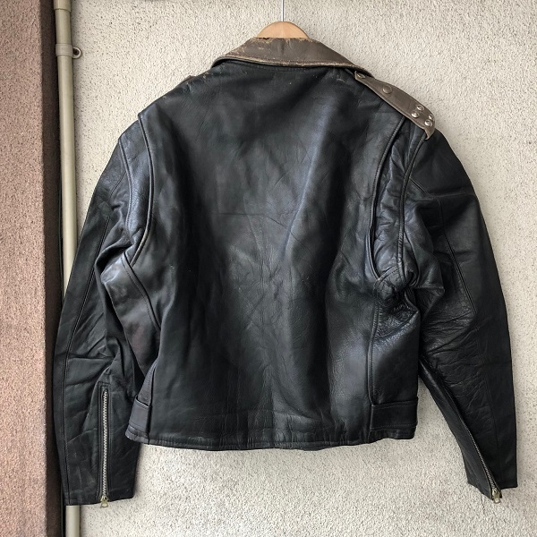 HORSE HIDE Two Tone Color Motor Cycle Jacket_c0146178_14350704.jpg