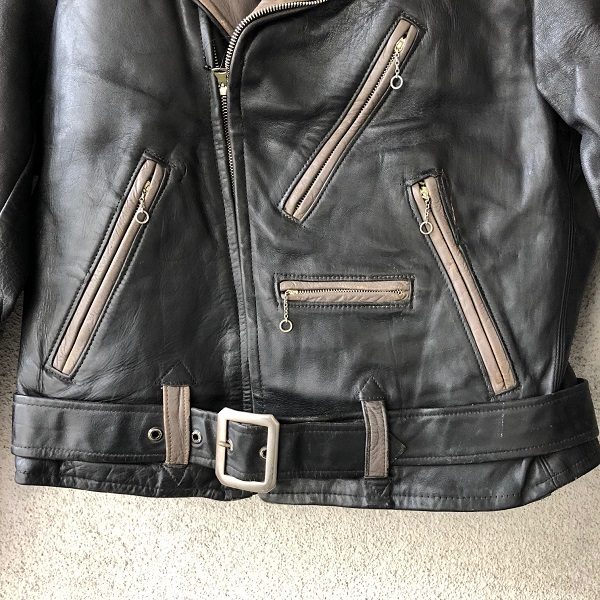 HORSE HIDE Two Tone Color Motor Cycle Jacket_c0146178_14363381.jpg