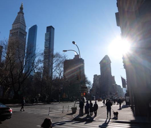 真冬のNY、フラットアイアン・ビルへ向かってお散歩_b0007805_2234530.jpg