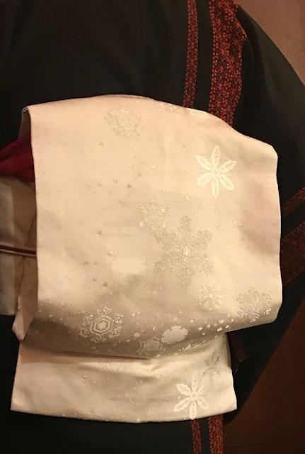 シャンソンクリスマス・まいづる雪の結晶の帯のお客様。_f0181251_18122296.jpg
