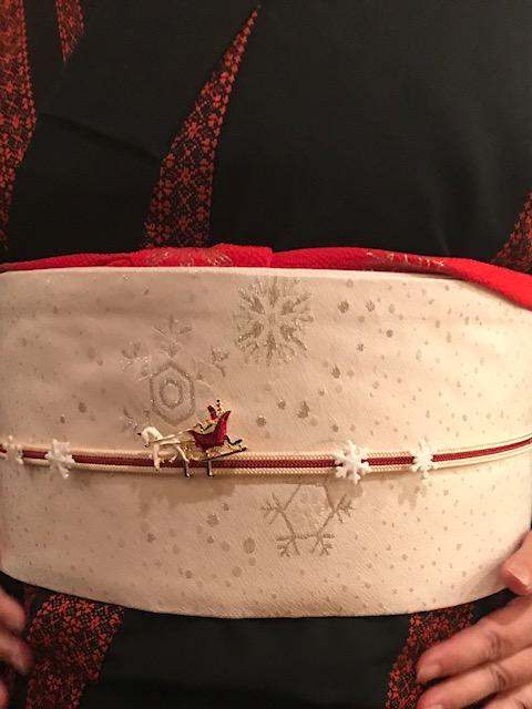 シャンソンクリスマス・まいづる雪の結晶の帯のお客様。_f0181251_18135150.jpg