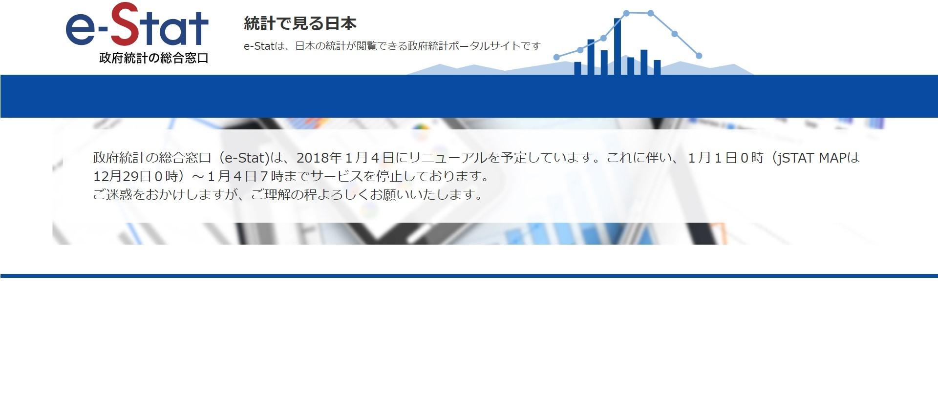 政府統計の総合窓口 e-Stat サービス停止中..._a0004752_09294523.jpg