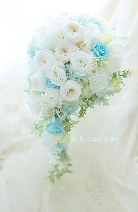 新郎新婦様からのメール フォトウエディングのためのブーケ、小さな結婚式様へ_a0042928_2313275.jpg
