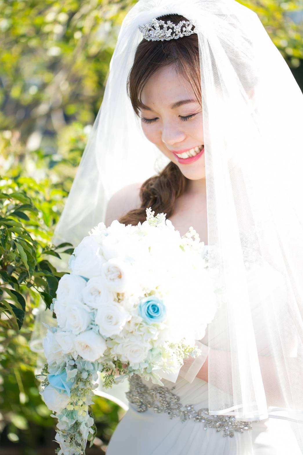 新郎新婦様からのメール フォトウエディングのためのブーケ、小さな結婚式様へ_a0042928_2365798.jpg