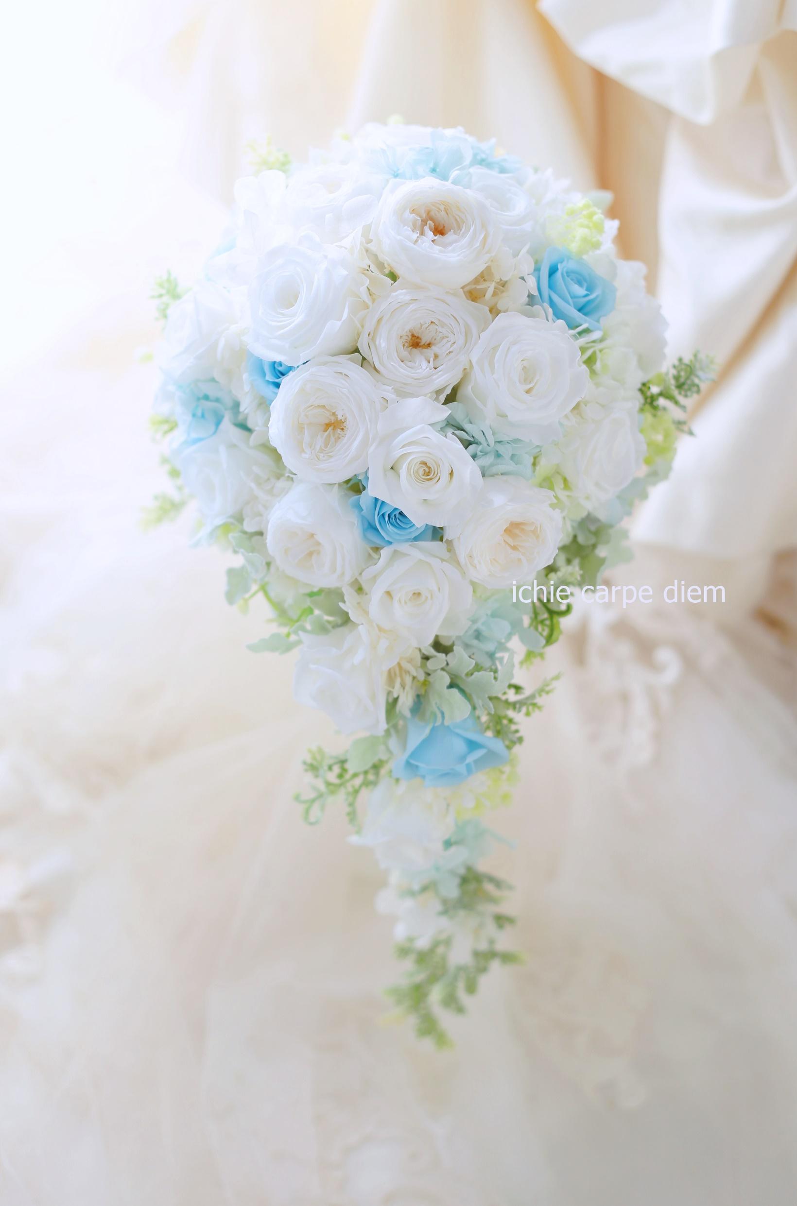 新郎新婦様からのメール フォトウエディングのためのブーケ、小さな結婚式様へ_a0042928_2383998.jpg