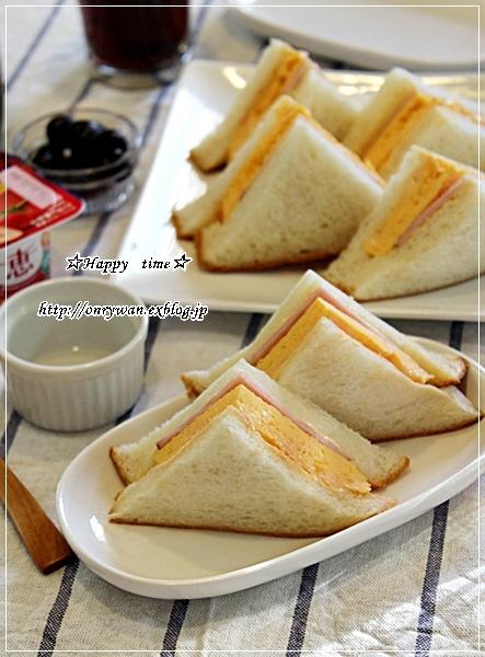 玉子ハムサンドで朝ごパンと今日のわんこ♪_f0348032_17531115.jpg