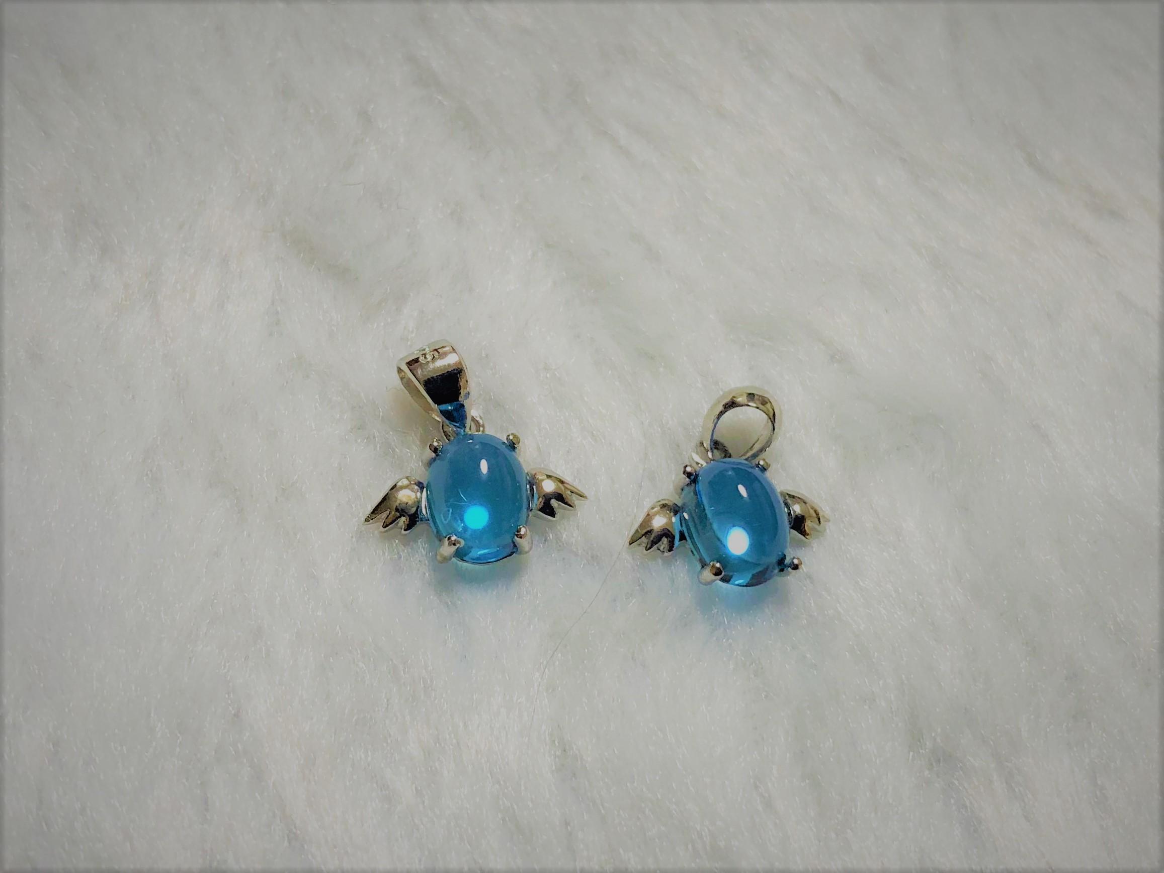 《パワーストーン》トパーズ天使のペンダントトップ~気品のあるブルーと可愛いフォルムのブルートパーズ~_b0298740_23275732.jpg