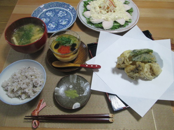 胡麻豆腐と彩り野菜のゼリー寄せ~お正月バージョン~_d0361028_21351876.jpg