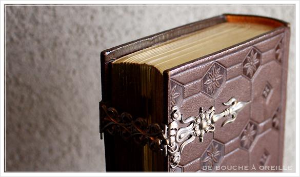 album de photos en cuir 聖書・古書のようなフォトアルバム フランスアンティーク_d0184921_13424025.jpg