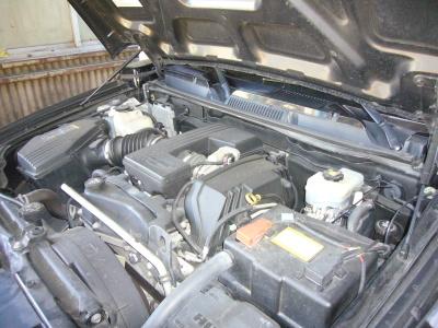 ハマーH3 エンジンチェックランプ点灯修理(サーモスタット交換)_c0267693_15520832.jpg