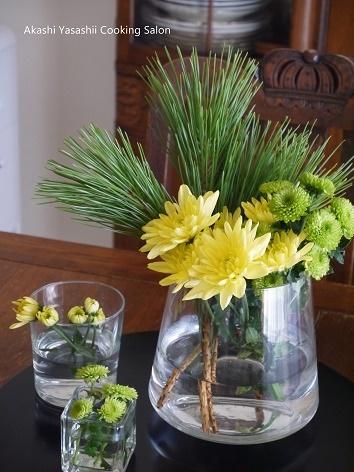 お正月の花はイエロー×グリーン_f0361692_12494998.jpg