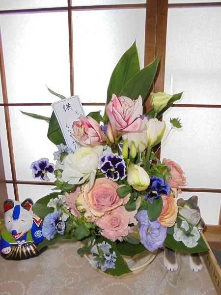 モナ先生とお花_a0064067_21570169.jpg