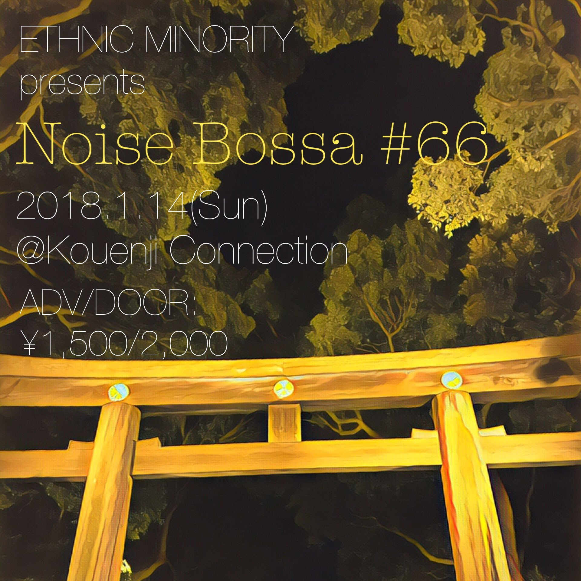 01/14(日)横田寛之 ETHNIC MINORITY「Noise Bossa Vol.66」_c0099300_15354840.jpg