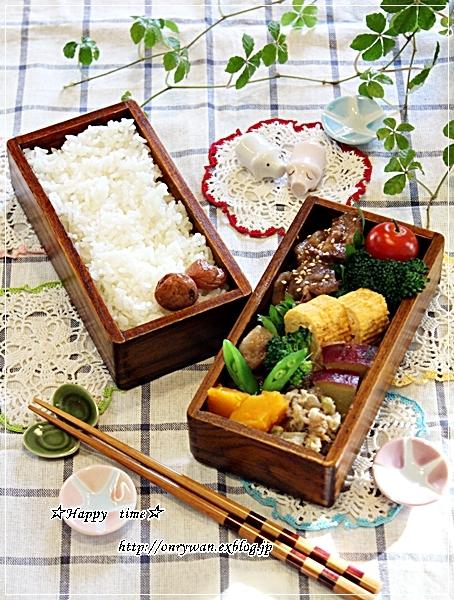 豚の生姜焼き弁当と今夜はあごだし鍋♪_f0348032_18255123.jpg