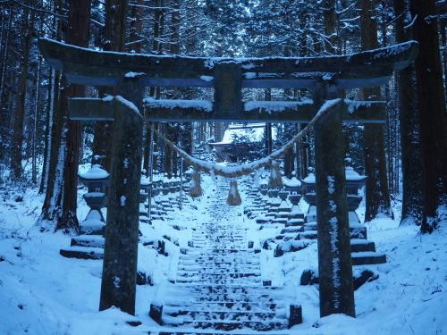 雪の上色見熊野座神社⛩_f0006649_12172790.jpg