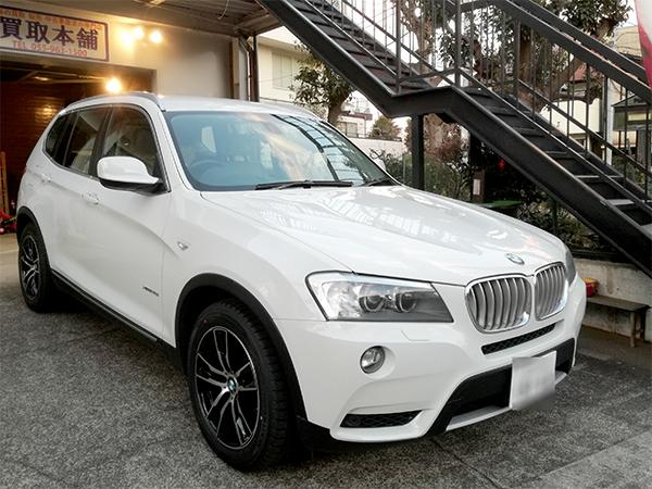 BMW X3 スタッドレスタイヤ&ホイールセット_e0288784_00404395.jpg