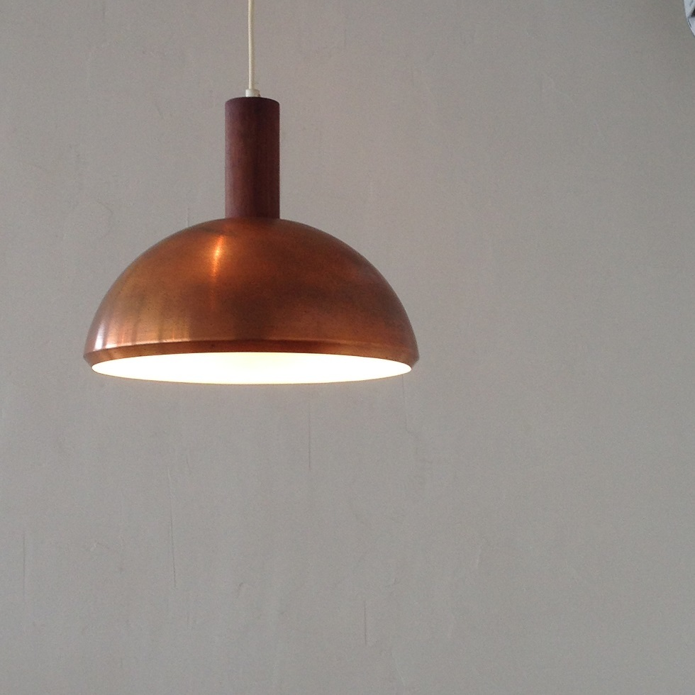 『teak copper pendant lamp』_c0211307_23453550.jpg