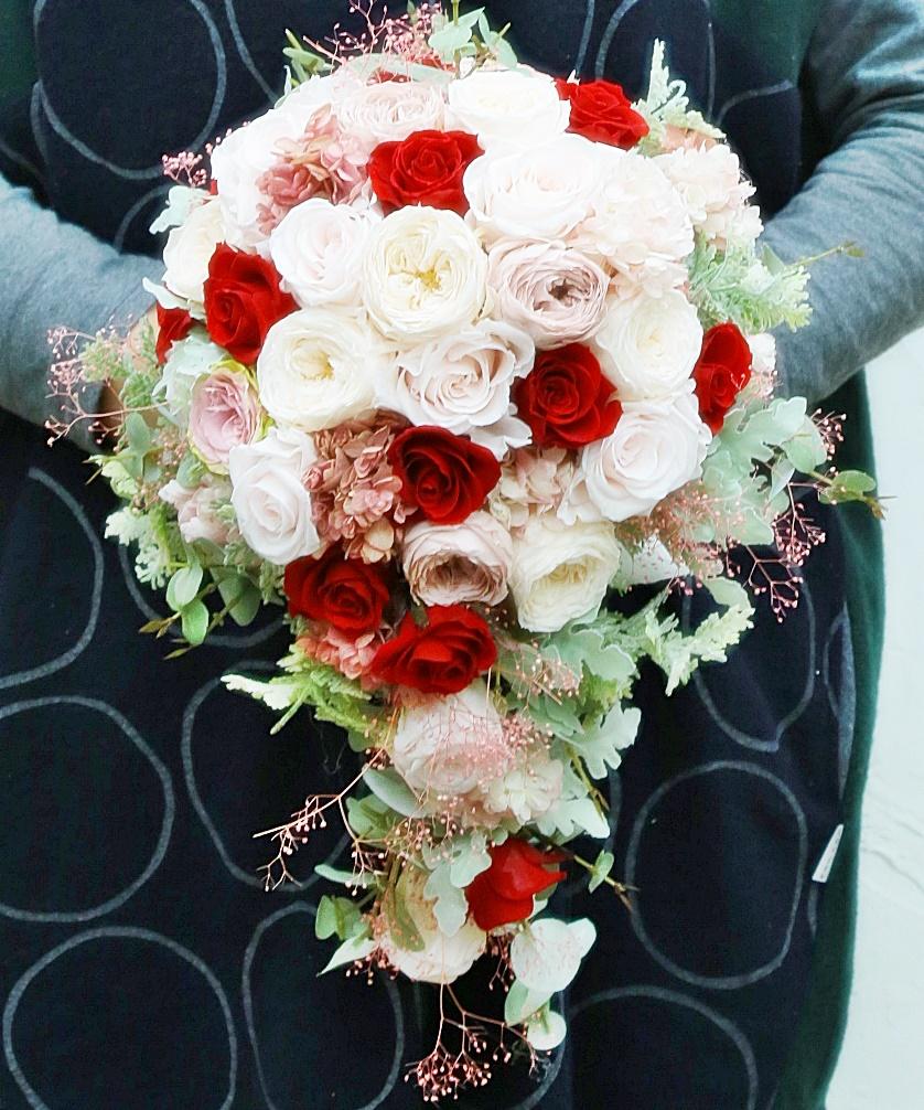 プロポーズのバラをいれた手作りブーケ 次回単発プリザーブドレッスンは、2月11日午後_a0042928_13301115.jpg