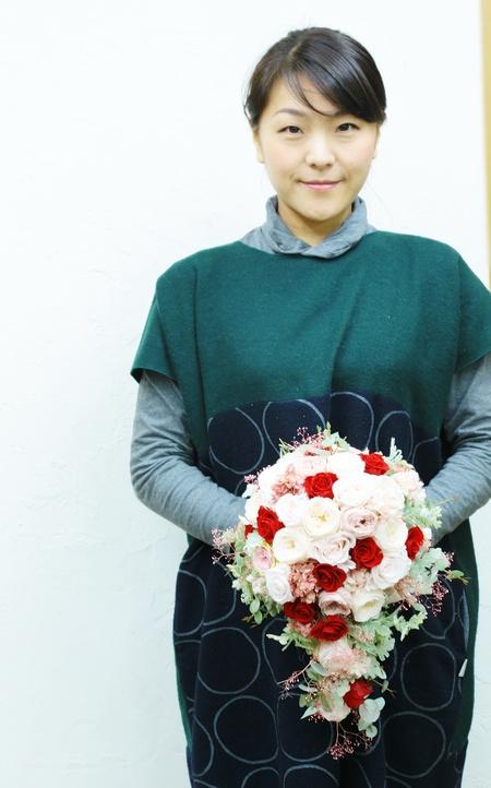 プロポーズのバラをいれた手作りブーケ 次回単発プリザーブドレッスンは、2月11日午後_a0042928_13454092.jpg