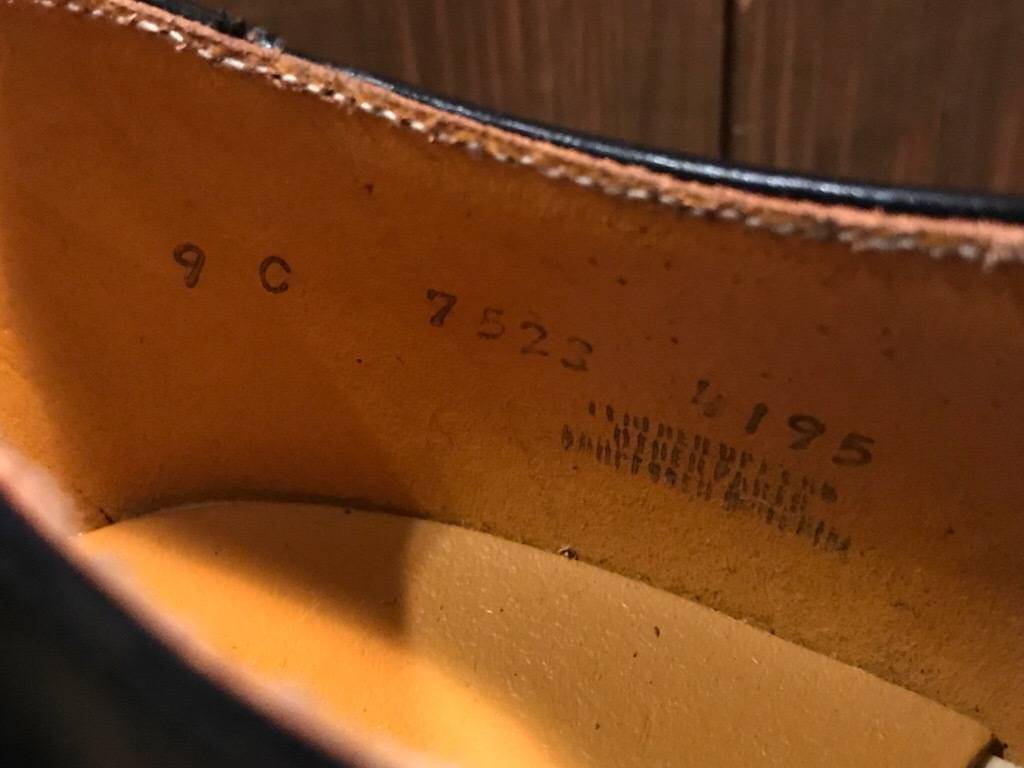 神戸店1/17(水)Vintage入荷! #2 Circa1950\'s NOS US.Navy Service Shoes!!!_c0078587_15183918.jpg