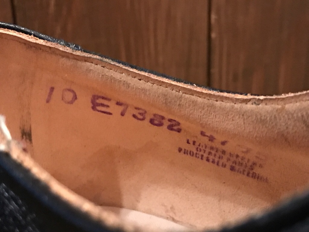 神戸店1/17(水)Vintage入荷! #2 Circa1950\'s NOS US.Navy Service Shoes!!!_c0078587_15253919.jpg