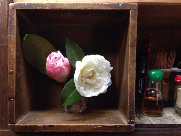 山茶花、椿、エンドウの花_b0087077_23503360.jpg