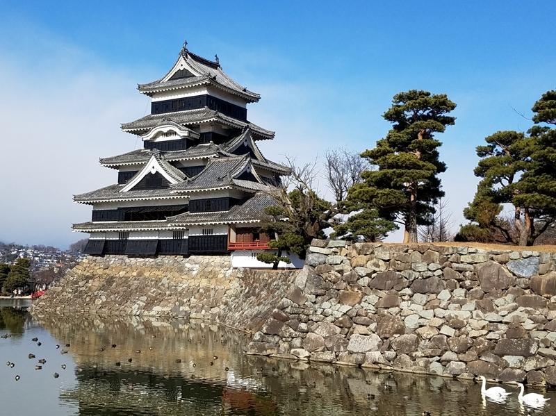 雪の後立山連峰と松本城_a0204089_621182.jpg
