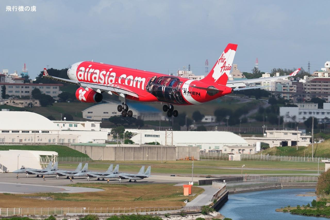 F-15 のお出迎えで X-MEN  A330  エアアジアX(D7)_b0313338_23314965.jpg