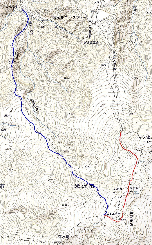 西吾妻山・若女平コース ~ 2018年1月13日_f0170180_22355406.jpg