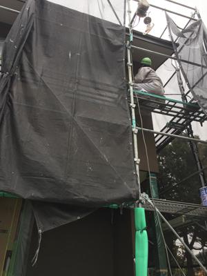 室内と外で仕上げ工事中_a0148909_16093741.jpg