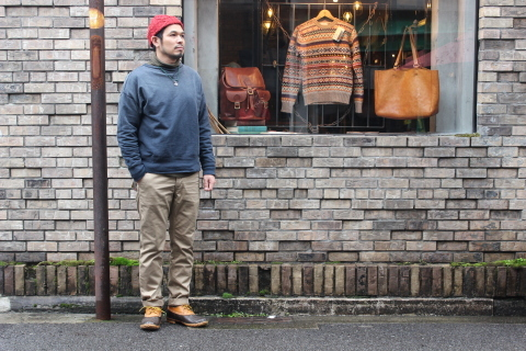 "WORKERS ""Officer Trousers\"" & \""Cotton Knit Cap\"" ご紹介_f0191324_08303555.jpg"
