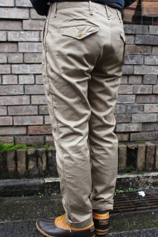 "WORKERS ""Officer Trousers\"" & \""Cotton Knit Cap\"" ご紹介_f0191324_08311005.jpg"