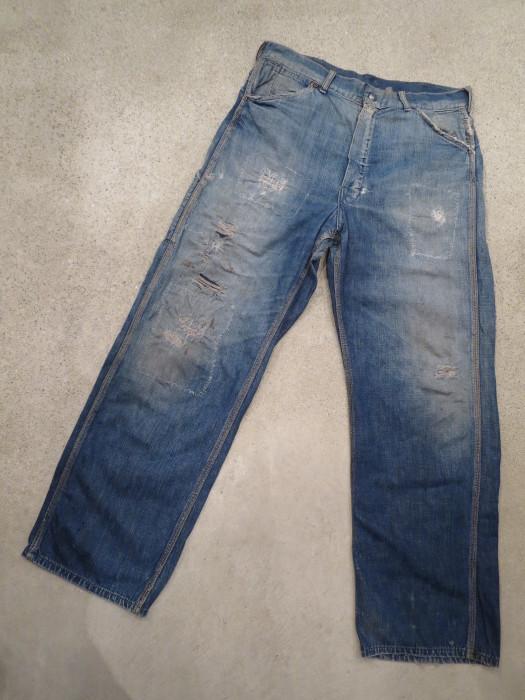 50\'s Unknown Denim Work Pants + 1月の営業は、今日まで !!_e0187362_10493957.jpg
