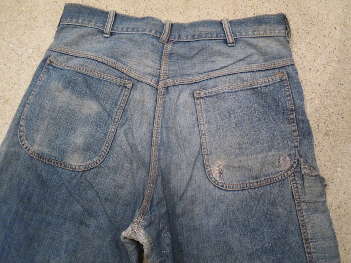 50\'s Unknown Denim Work Pants + 1月の営業は、今日まで !!_e0187362_11222006.jpg