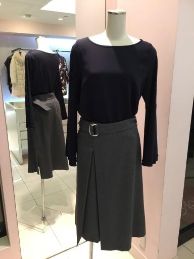 アシメントリーな裾デザイン ロングスカート_c0223630_19380442.jpg