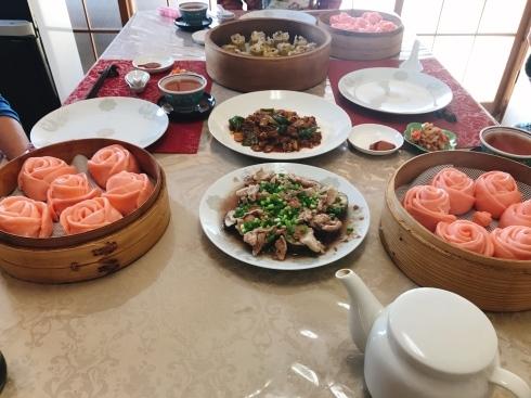 バラ饅頭、蝦シュウマイ_a0175348_17033694.jpg