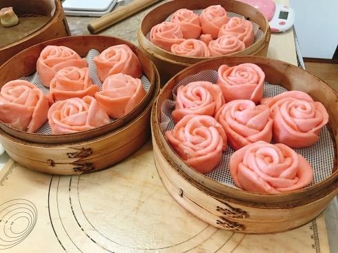 バラ饅頭、蝦シュウマイ_a0175348_17073117.jpg