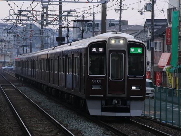 阪急9001F 準急・箕面行き_d0202264_1136622.jpg